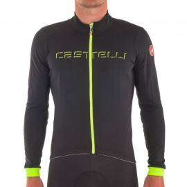 Castelli Maglia Fondo Light Black/Yellow Fluo