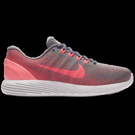 Nike Lunarglide 9 Donna Gunsmoke/Solar Red