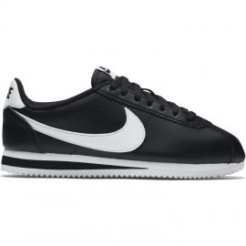 Nike Donna Classic Cortez Leather Nero/Bianco