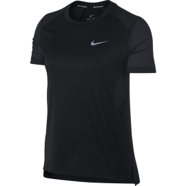 Nike T-Shirt Donna Mm Rn Dry Miler Black