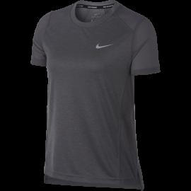 Nike T-Shirt Donna Mm Rn Dry Miler Gunsmoke