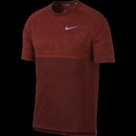 Nike T-shirt Mm Run Dry Medalist Deep Burgundy/Habanero Red