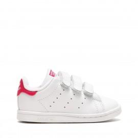 Adidas Stan Smith Cf Bambino Bianco/Fucsia