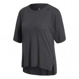 Adidas T-Shirt Donna Mm Over Train Nero