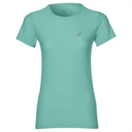 Asics T-Shirt Donna Mm Run Balance Opal Green