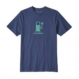 Patagonia T-Shirt Live Simply Dolomite Blue