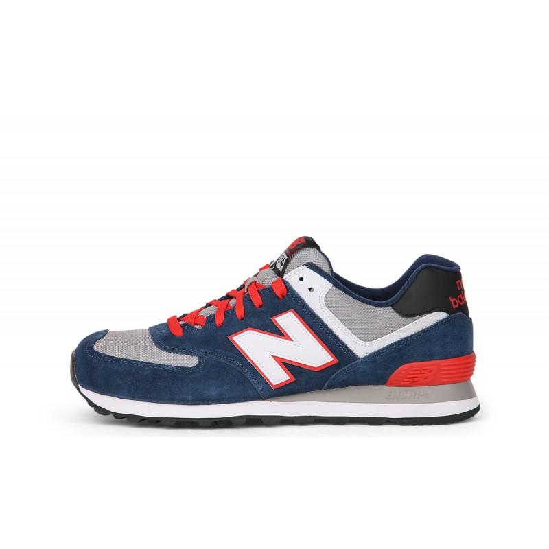 New Balance 574 Bicolor  Suede/Mesh Blu/Bianco/Arancio