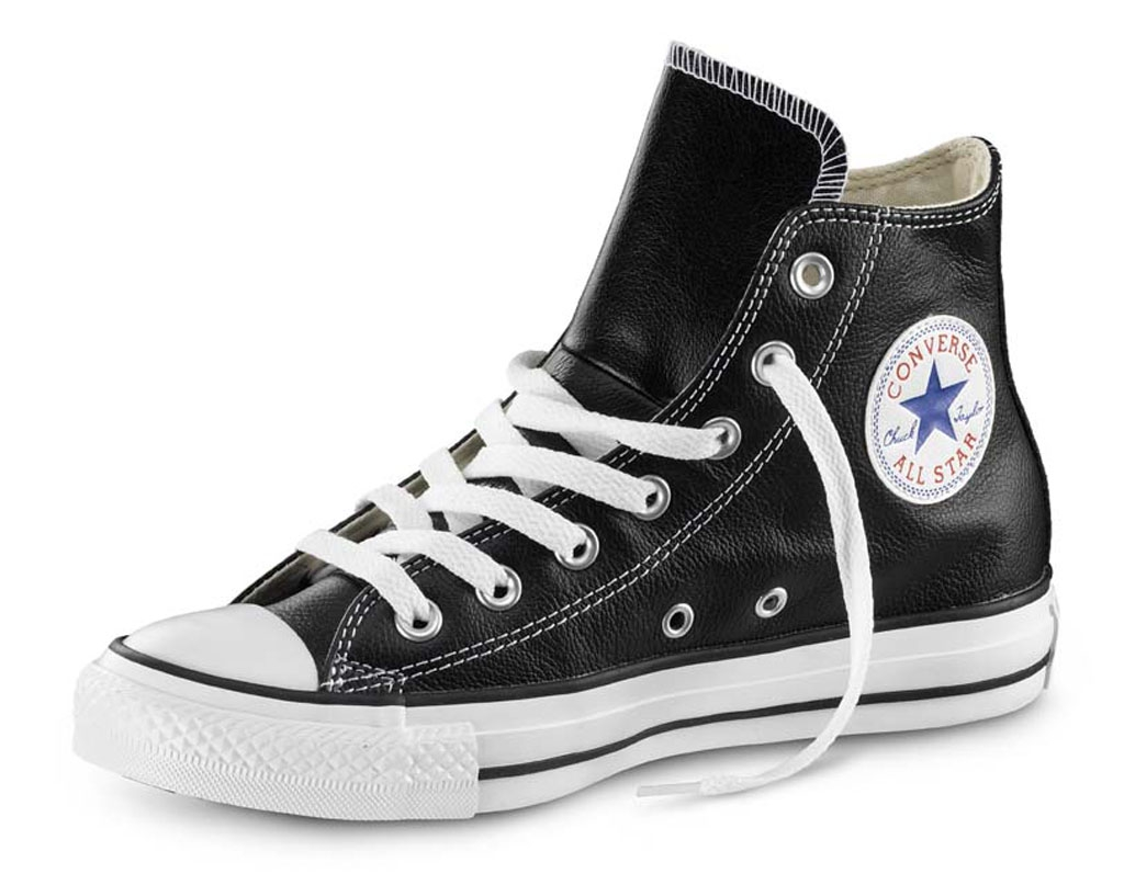 converse all star pelle nero