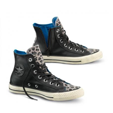 Converse W All Star Hi Side Zip Lea