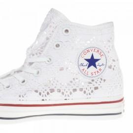 Converse All Star Hi Crochet Donna Bianco