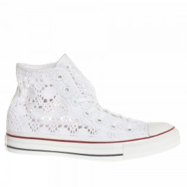 Converse All Star Hi Crochet Donna Bianco