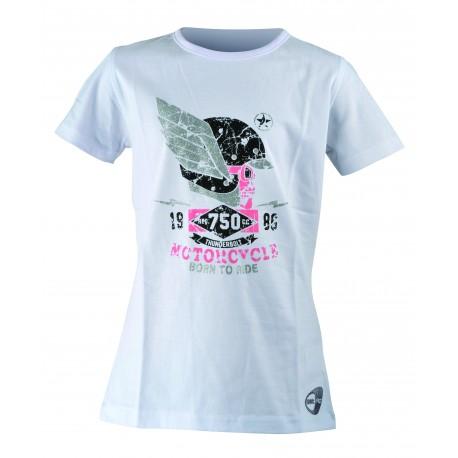 Get Fit T-Shirt Teschio Bianco Bambina