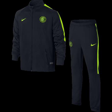 Nike Tuta Inter Dry Trk Sqd Nero/Verde Bambino