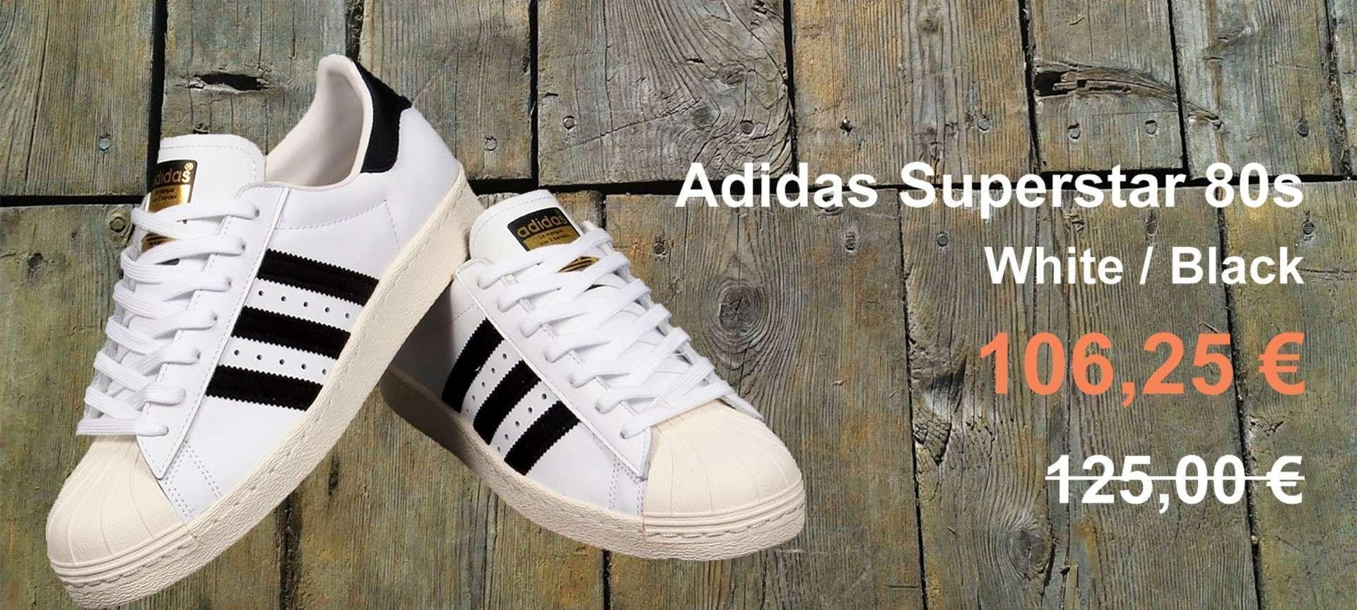 Scarpe Adidas Superstar 80s bianco/Nero