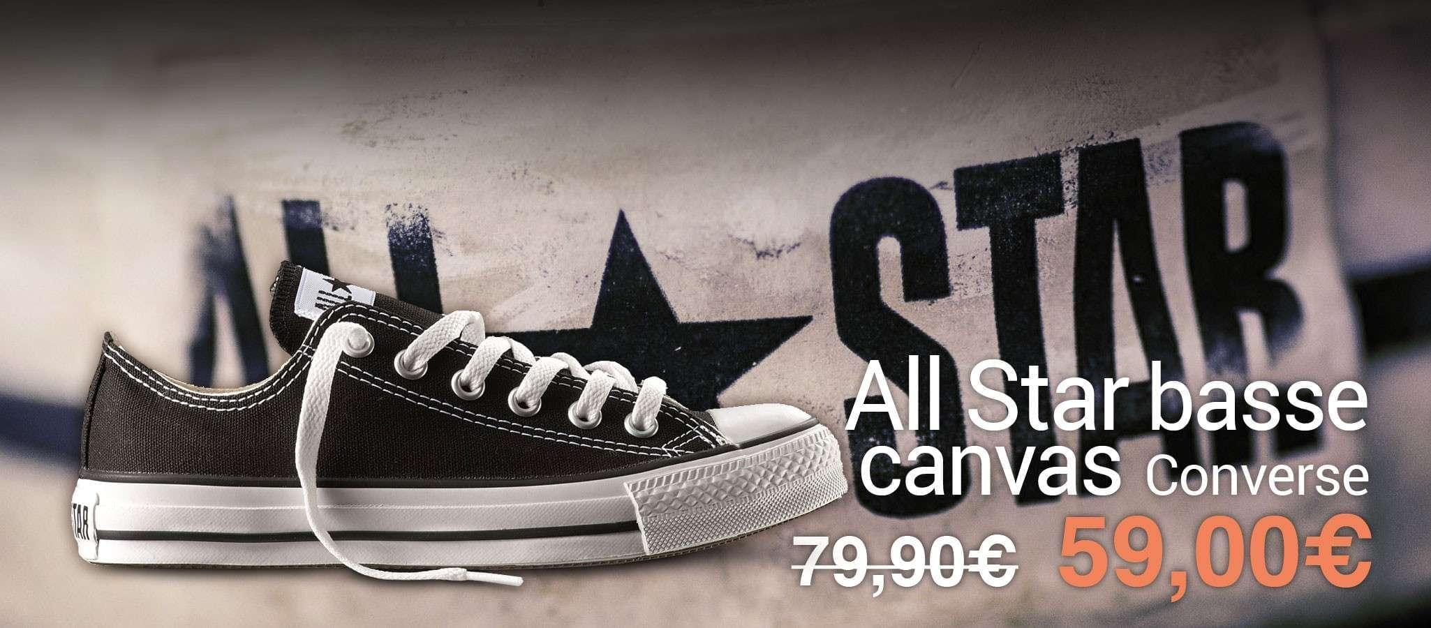 Converse All Star Nere Basse Canvas (Ox Canvas Black)