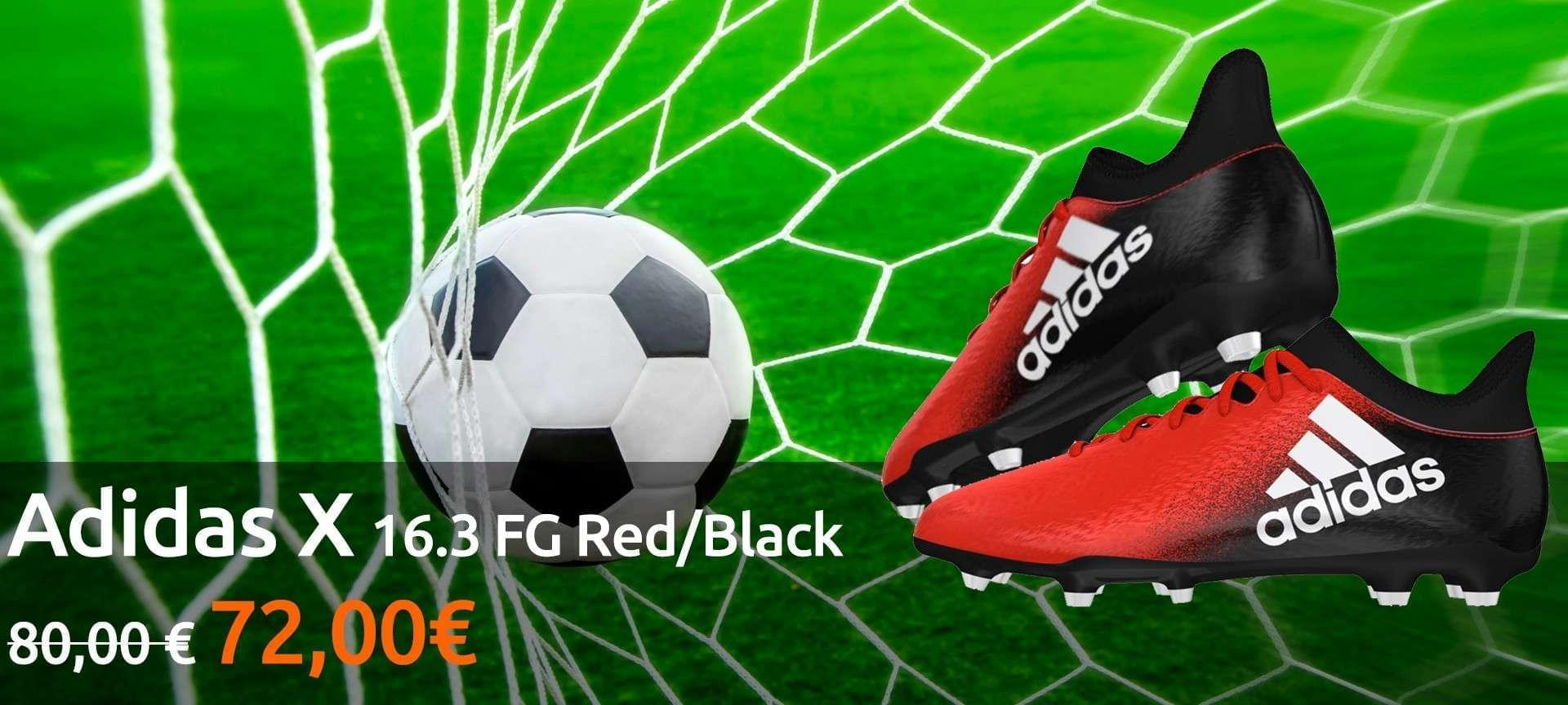 Scarpe adidas x 16.3 FG Red/Black