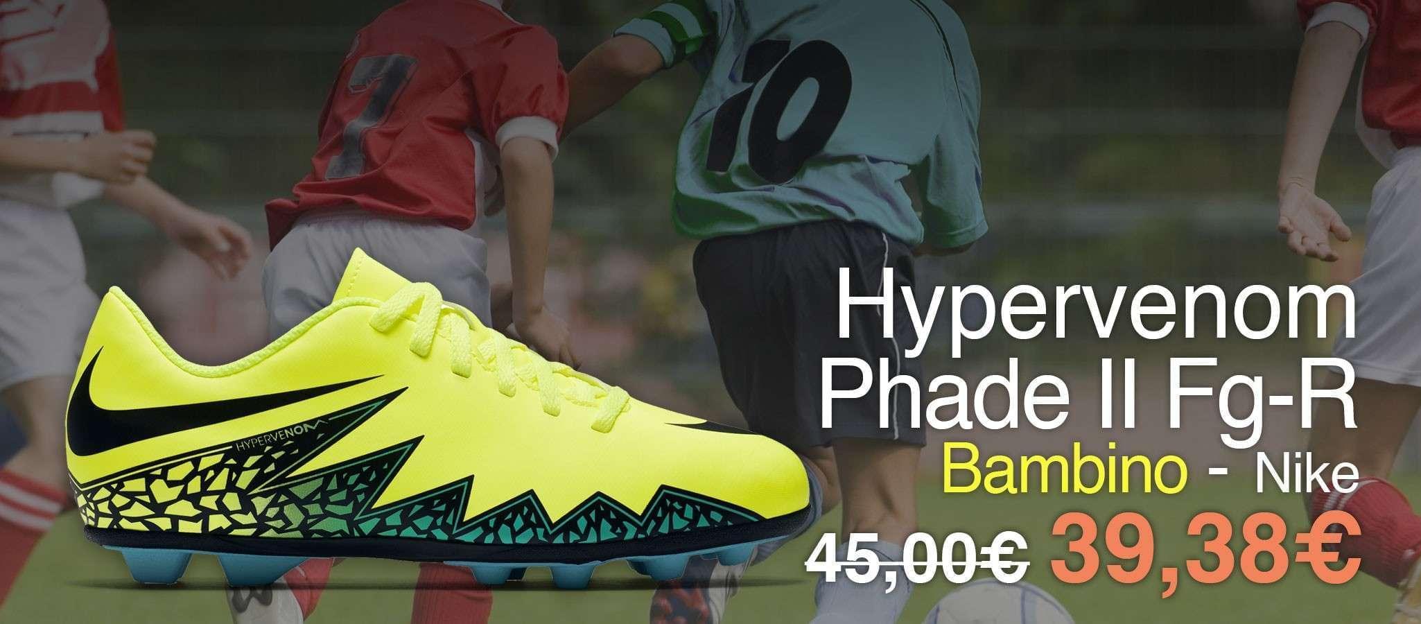 Nike Hypervenom Phade II Fg-R Giallo/Nero Bambino