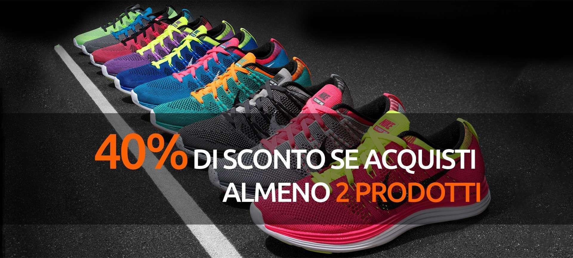 40% di sconto con l'acquisto di 2 prodotti