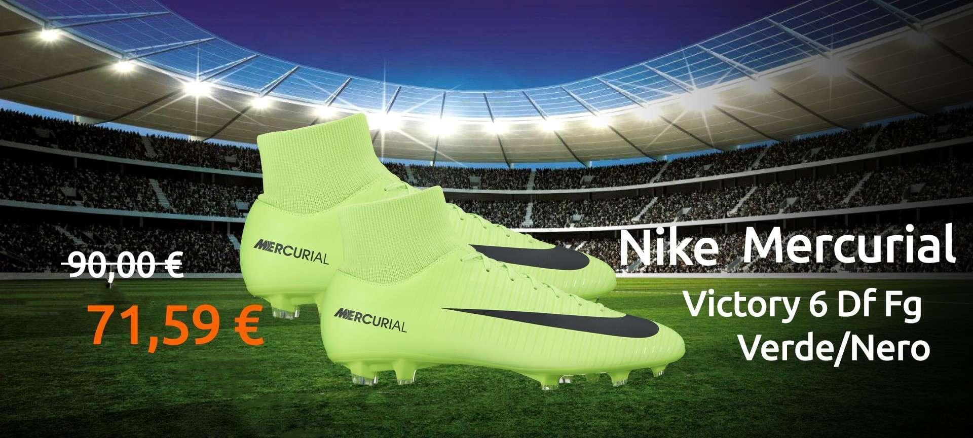Scarpe Nike Mercurial Victory 6 Df Fg Verde/Nero