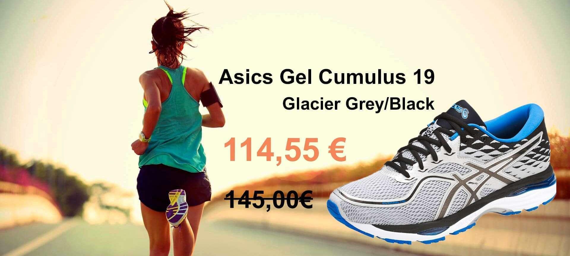 Asics Scarpa Gel Cumulus 19 Glacier Grey/Black