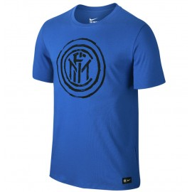 Nike T-Shirt Mm Inter Crest Tee Royal Blue/Black