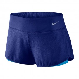 Nike Short Run Rival Jaquard 2in1 Royal Blue Donna