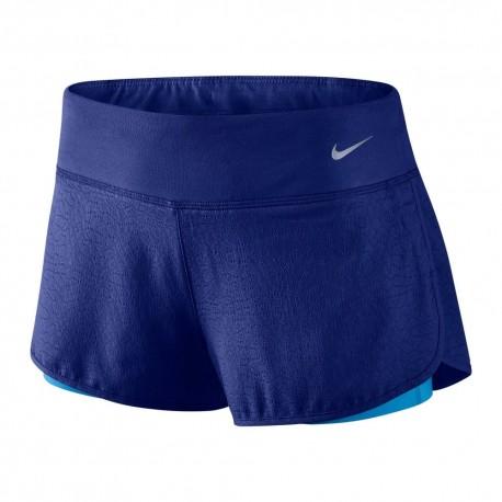 Nike Short Run Rival Jaquard 2in1 Royal Blue Donna