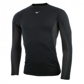 Mizuno Bt T-Shirt Ml Run Mid Weight Crew Black