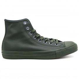 Converse All Star Hi Leather Monochrome Green Monochrome Unisex