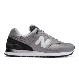 New Balance 574 Synthetic Silver/Metallic Donna