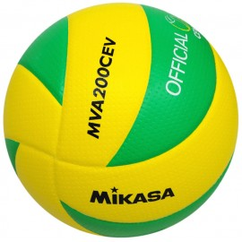 Mikasa Pallone Volley Gara Mva200 Cev Yellow/Green