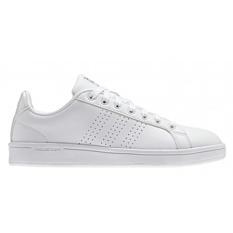 Adidas Cloudfoam Advantage Clean  Bianco/Bianco Donna