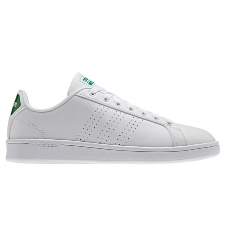 best website 6aa85 72772 Adidas Cloudfoam Advantage Clean Bianco Verde