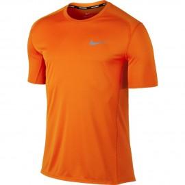 Nike T-shirt Mm Dry Miler Run Arancio/Arancio