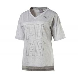 Puma T-Shirt Donna Mm Scollo V Grigio