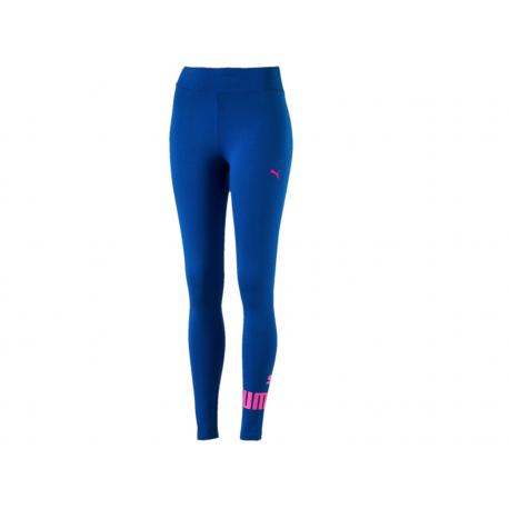 Puma Legging Donna Logo In Basso Blu