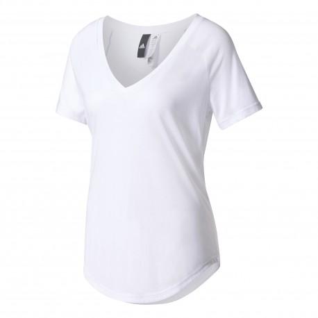 Adidas T-shirt Donna Mm Scollo Ampio Rosa
