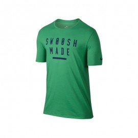 Nike T-shirt Mm Jy Swoosh Train Green/Blu
