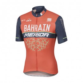 Sportful Maglia Bahrain Merida Bodyfit Pro Team Red/Blue