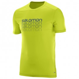 Salomon T-Shirt Cosmic Logo Lime Punch