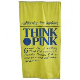 Think Pink Telo Logo Retro'  Giallo