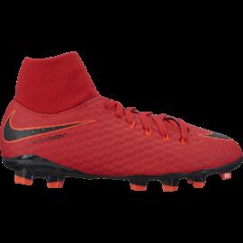 Nike Bambino Hypervenom Phelon 3 Df Fg Red/Black
