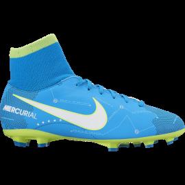 Nike Bambino Mercurial Vctry 6 Df Njr Fg Azzurro/Bianco