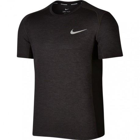Nike T-shirt mm Run Miler Blk/Anthracite