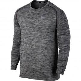 Nike T-Shirt Ml Rn Df Knit (36) Black/Htr