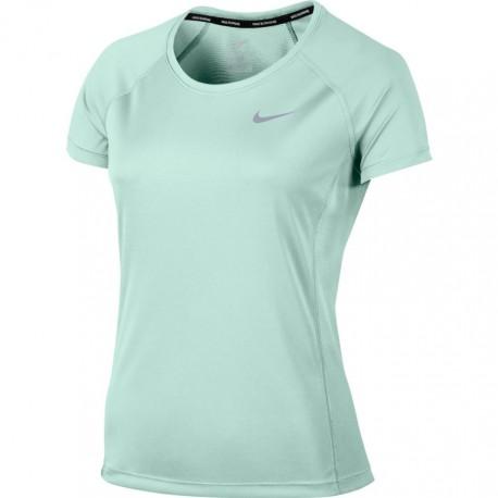 Nike T-Shirt Donna  Mm Run Dry Miler    Igloo
