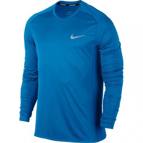 Nike T-Shirt Ml Run Dry Miler Photo Blue