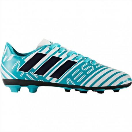 Adidas Scarpa Jr Nemeziz Messi 17.4 Fxg Bianco/Azzurro/Nero