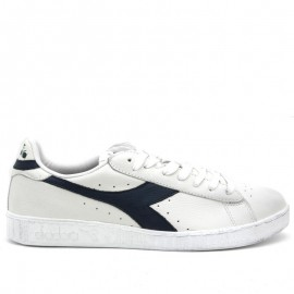 Diadora Game Low Waxed Lea  Bianco/Blu
