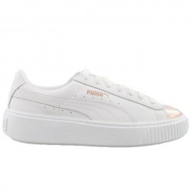 low priced 1f07b a4eec Style Puma Scarpa Donna Basket Platform Metallic White ...
